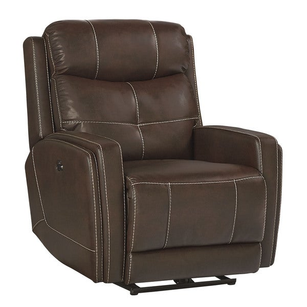 Shop Standard Furniture Granger Brown Faux Leather Glider