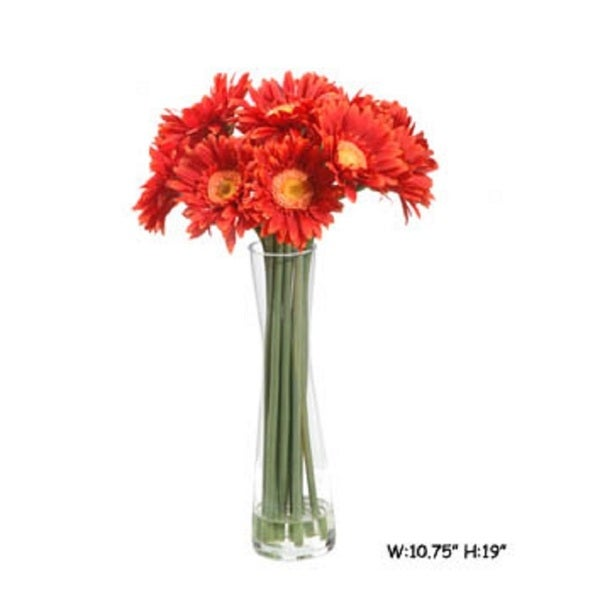 Shop Gold Eagle Gerbera In Vase Free Shipping Today Overstock