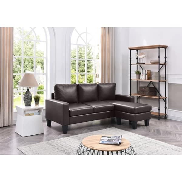 Shop LYKE Home Reversible Apartment Sofa Chaise - Free ...