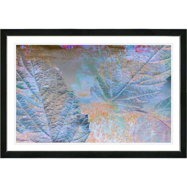 Studio Works Modern Framed Fine Art Abstract Floral Still Life Painting 'Abstract Autumn' Wall Art Giclee Print by Zhee Singer