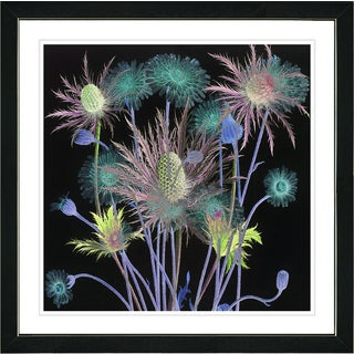 Studio Works Modern Zhee Singer 'Highland Dusk Flowers' Contemporary Floral Still Life Painting Framed Giclee Wall Art Print
