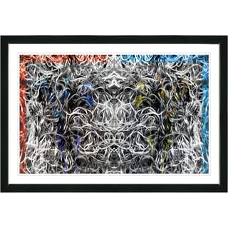 Studio Works Modern Framed Fine Art Contemporary Abstract Painting 'Dance Moves' Wall Art Giclee Print by Zhee Singer
