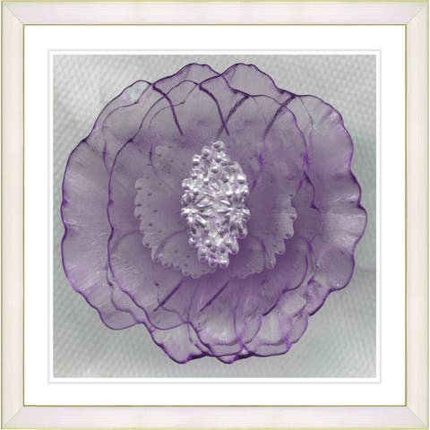 Studio Works Modern Framed Fine Art Floral Still Life Painting 'Clear Crystal Flower' Wall Art Giclee Print by Zhee Singer