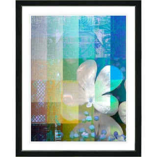 Studio Works Modern Framed Fine Art Floral Abstract Still Life Painting 'Chelsea Flower' Wall Art Giclee Print by Zhee Singer