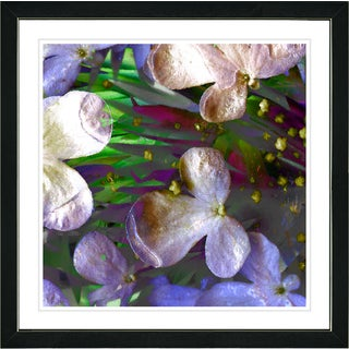 Studio Works Modern Framed Fine Art Floral Still Life Painting 'Party Flowers' Wall Art Giclee Print by Zhee Singer