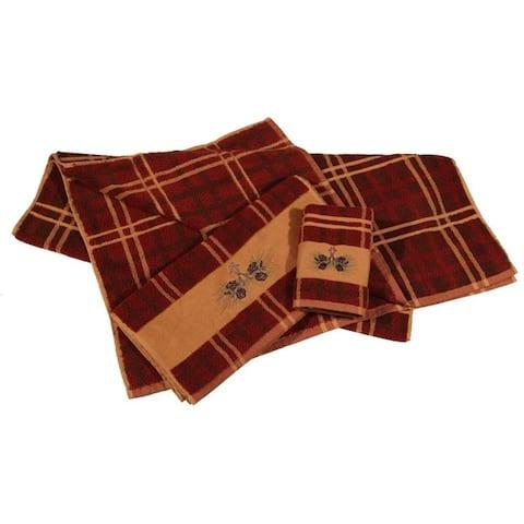 Hiend Accents 3-Piece Pine Cone Towel Set