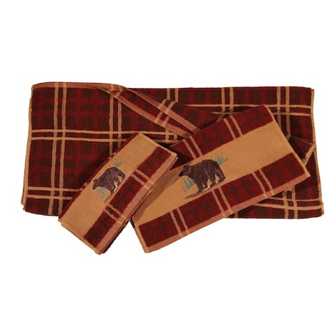 HiEnd Accents Embroidered Bear 3-piece Towel Set