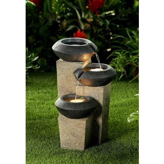 Ordinaire Three Tiered Modern Style Illuminated Water Fountain