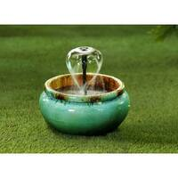 Lyconia Distressed-style Polyresin Water Fountain