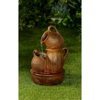 Jeco Distressed Bronze Polyresin Water Fountain