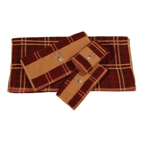 Hiend Accents Embroidered Deer 3-Piece Towel Set