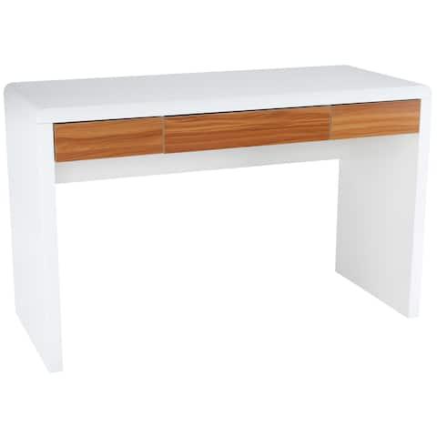 EdgeMod Mallory White Wood Writing Desk