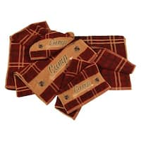 HiEnd Accents Embroidered Camp 3-piece Towel Set