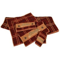 HiEnd Accents Lodge 3-piece Embroidered Towel Set