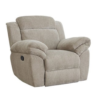 Sweeney Polyester Chenille Glider Recliner in Sandstone by Standard Furniture