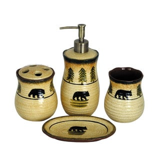 HiEnd Accents 4-piece Bear Bathroom Set