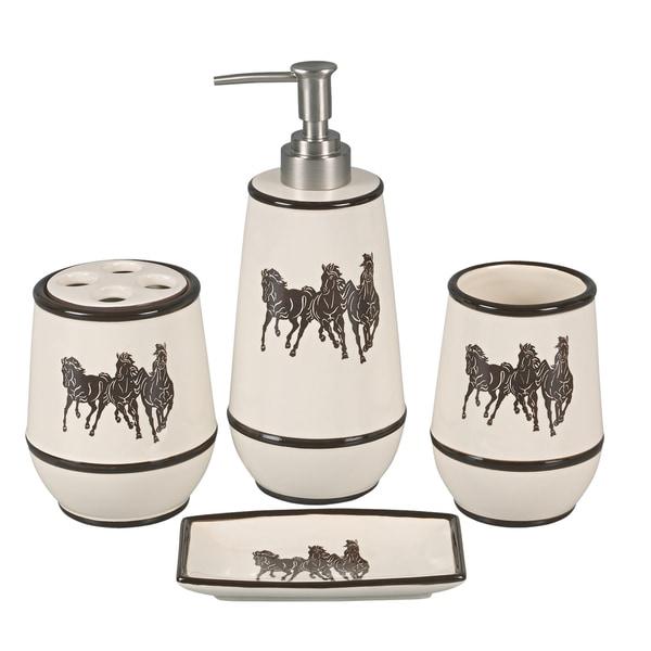 HiEnd Accents 4-piece 3 Horse Bathroom Set