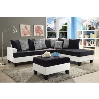 Lyke Home Reversible 2-toned Chaise Sectional