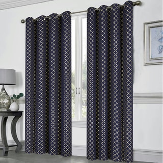 Moroccan Foil Printed Blackout Room Darkening Curtain Panel