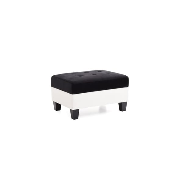 Superbe LYKE Home Black/ White Contemporary Storage Ottoman
