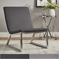 Ululani Grey Linen Chrome Metal Leg Accent Chair iNSPIRE Q Modern