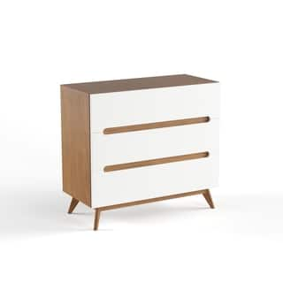 Mid-Century White and Walnut 3-Drawer Chest by Baxton Studio|https://ak1.ostkcdn.com/images/products/15926152/P22328064.jpg?impolicy=medium