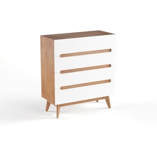 Mid-Century White and Walnut 4-Drawer Chest by Baxton Studio|https://ak1.ostkcdn.com/images/products/15926153/P22328065.jpg?impolicy=medium