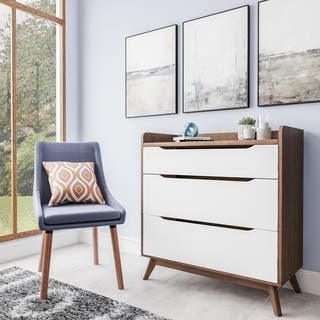 Mid-Century White and Walnut 3-Drawer Chest by Baxton Studio|https://ak1.ostkcdn.com/images/products/15926155/P22328069.jpg?impolicy=medium