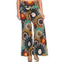 Women's Plus Size Medallion Floral Palazzo Pants