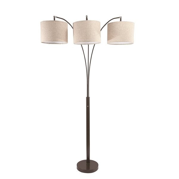 Q-Max Marble Base 81-inch-high 3-way Arching Floor Lamp