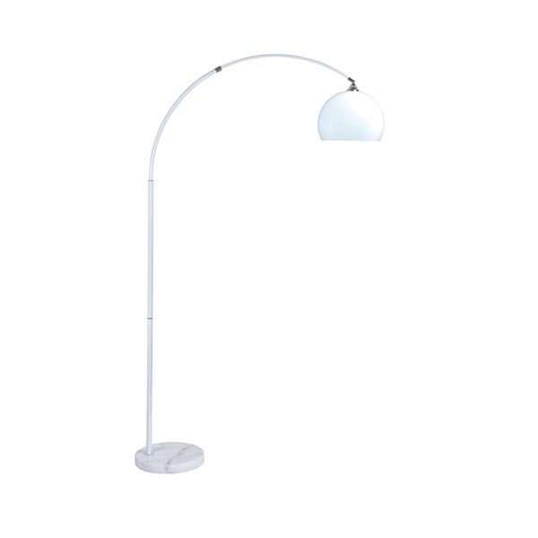 Q-Max White Marble/Metal Modern Hanging Floor Lamp