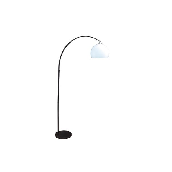 Q-Max Modern White Shade Hanging Floor Lamp