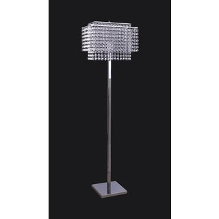 Q-Max Faux Crystal with Chrome Metal Floor Lamp