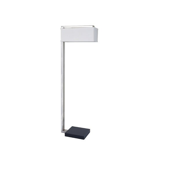 Q-Max Bliss White Metal 62-inch L-shape Floor Lamp