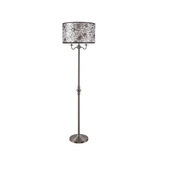 Q-Max Multicolor Metal 60.5-inch Floral Floor Lamp - Multi-color