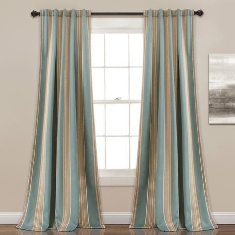 Buy Blue Stripe Curtains Drapes Online At Overstock Our Best Window Treatments Deals