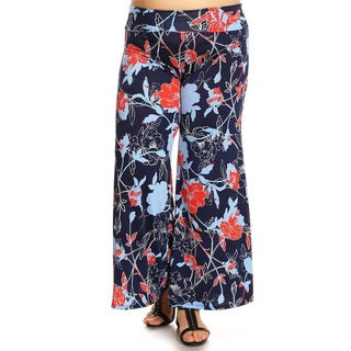 Women's Plus Size Floral Tapestry Pants
