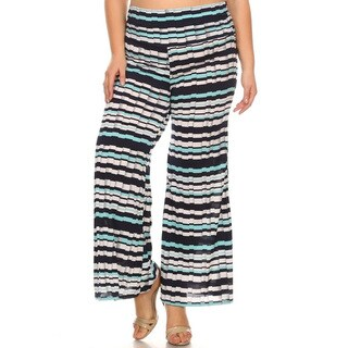 Women's Plus Size Faux Pleated Pants