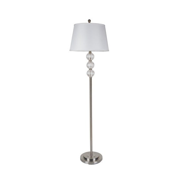 Q-Max Triple Orb White Modern Floor Lamp