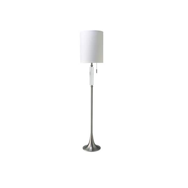 Q-Max Faux Crystal 63-inch Pull Chain Floor Lamp