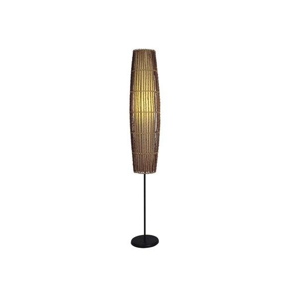 Q-Max Rattan Floor Lamp