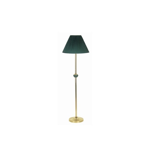 Q-Max Ceramic 60-inch Floor Lamp with Green Shade