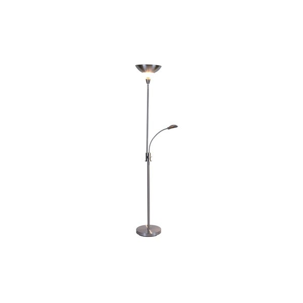 Q-Max Silve Metal 72-inch Torchiere Floor Lamp