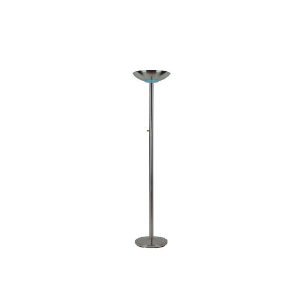 Q Max Silver Metal 71 Inch Torchiere Floor Lamp On Free Shipping Today 15926227