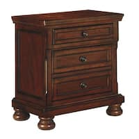 Signature Design by Ashley Porter Rustic Brown Two Drawer Night Stand