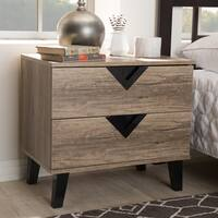 Palm Canyon Diana Contemporary Light Brown Wood Nightstand