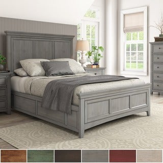 Ediline Queen Size Wood Panel Platform Bed by iNSPIRE Q Classic