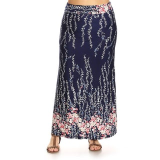 Women's Plus Size Floral Maxi Skirt