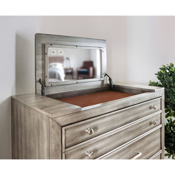 Shop Furniture Of America Hax Transitional Grey Solid Wood 5