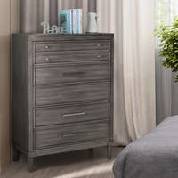 Kerilan Transitional Grey 5-drawer Chest with Jewelry Storage by FOA